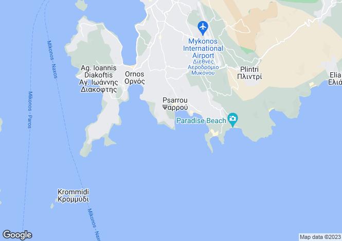 Map for Agios Lazaros, Mykonos, Cyclades islands