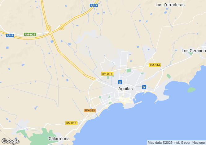 Map for Águilas, Murcia