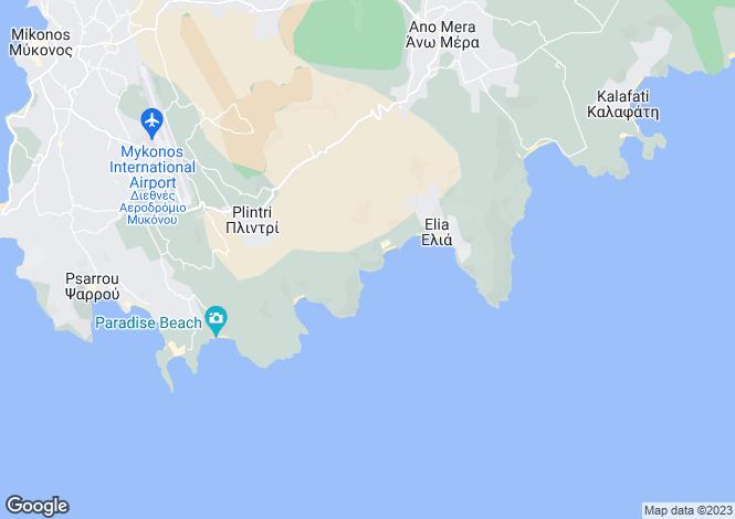 Map for Villa Agrari Panorama I, Agrari, Mykonos Island