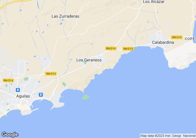Map for Spain - Murcia, Águilas