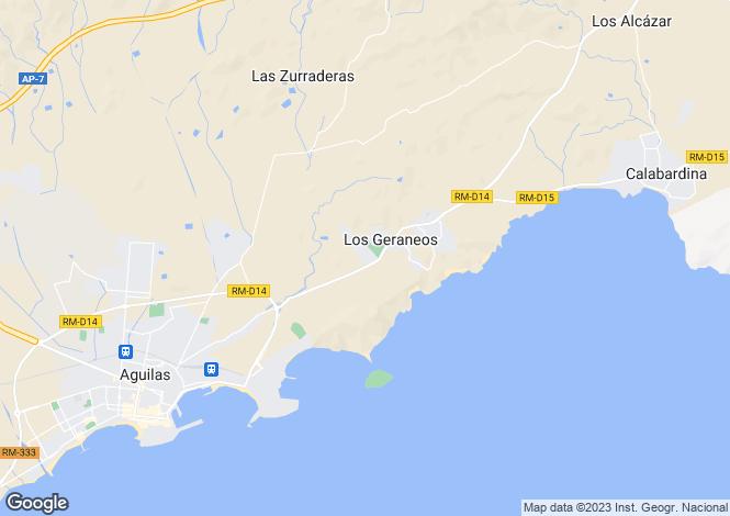 Map for Murcia, Águilas