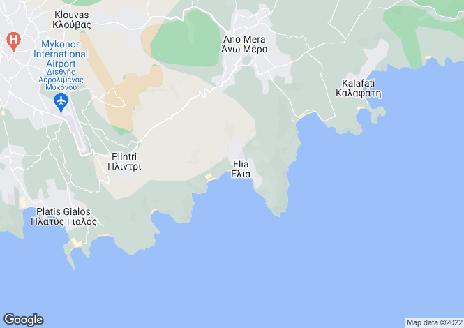 Map for Elia Beach Villa I, Elia Beach, Mykonos Island