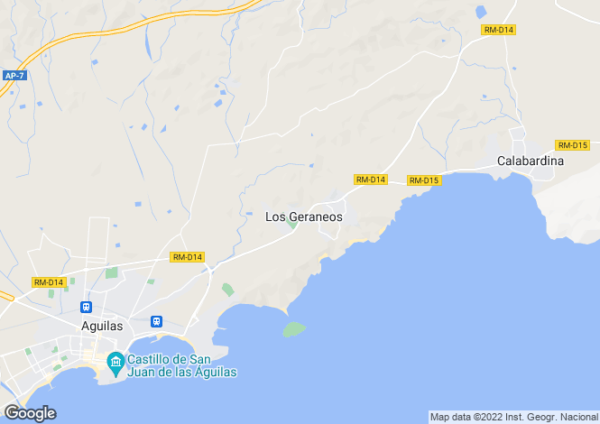 Map for Murcia, Águilas