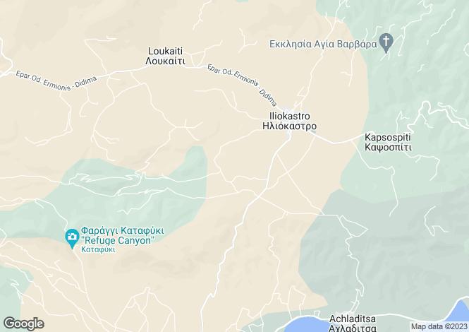 Map for Peloponnese, Argolis, Iliokastro