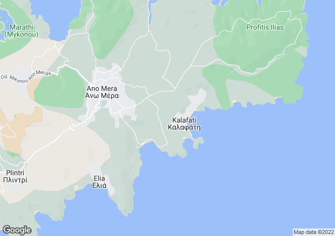 Map for Cyclades islands, Mykonos, Kalafatis