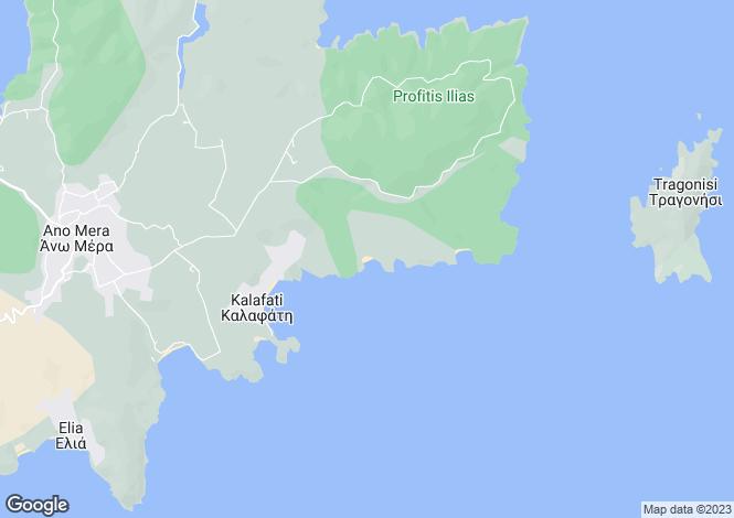 Map for Cyclades islands, Mykonos, Lia