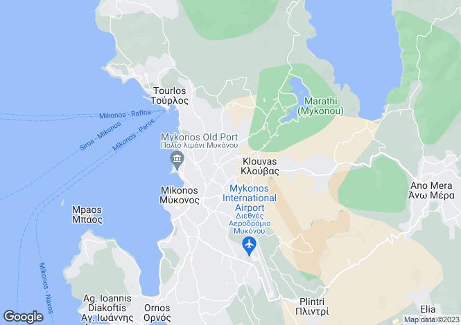 Map for Agia Sofia, Mykonos, Cyclades islands