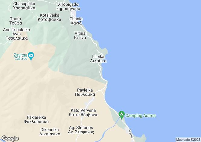 Map for Paralio Astros, Arcadia, Peloponnese