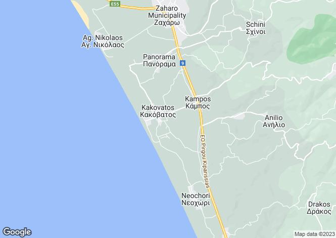 Map for Peloponnese, Elis, Kakovatos