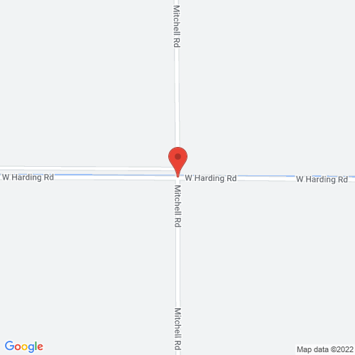 Map of harding road and mitchell road, turlock, ca
