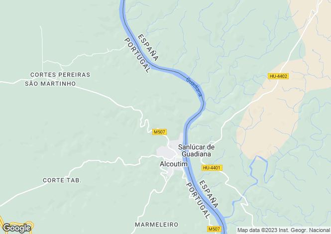 Map for Algarve, Alcoutim