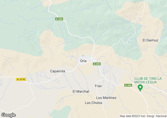 Map for Andalucia, Almería, Oria