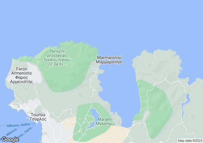 Map for Agios Sostis, Mykonos, Cyclades islands