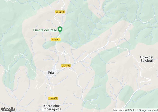 Map for Frailes, Jaen, Spain