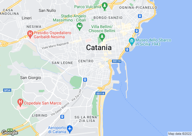 Map for Calatabiano, Catania