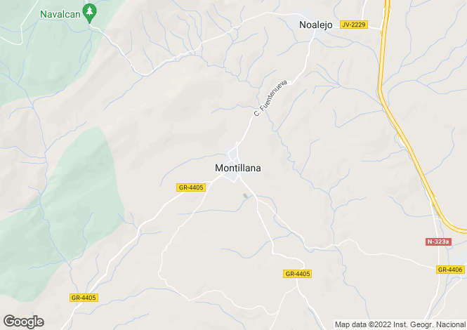 Map for Montillana, Granada, Spain