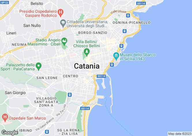 Map for Catania, Catania, Sicily