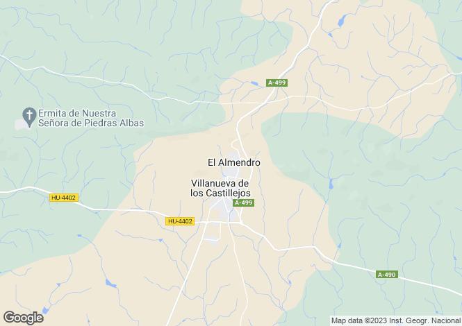 Map for Andalucia, Huelva, Villanueva de los Castillejos