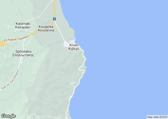 Map for Peloponnese, Argolis, Nafplio