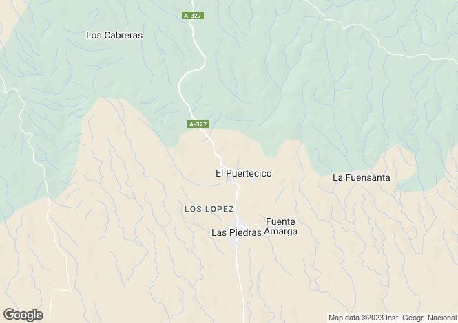 Map for Huércal-Overa, Almería, Andalusia