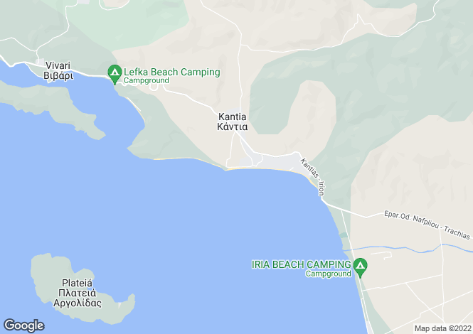 Map for Kantia, Argolis, Peloponnese
