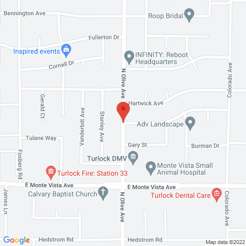 Map of 3400 N. Olive Ave., Turlock, Ca