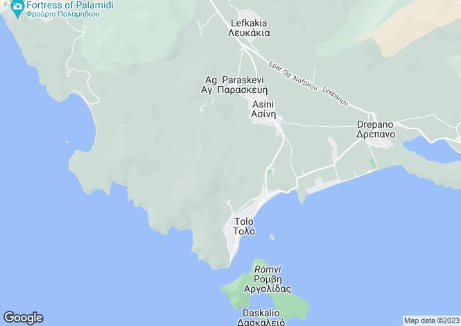 Map for Peloponnese, Argolis, Tolo