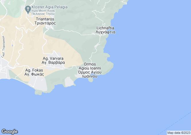 Map for Triantaros, Tinos, Cyclades islands