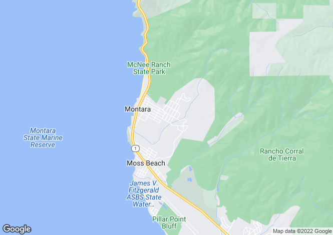 Map for California, San Mateo County, Montara