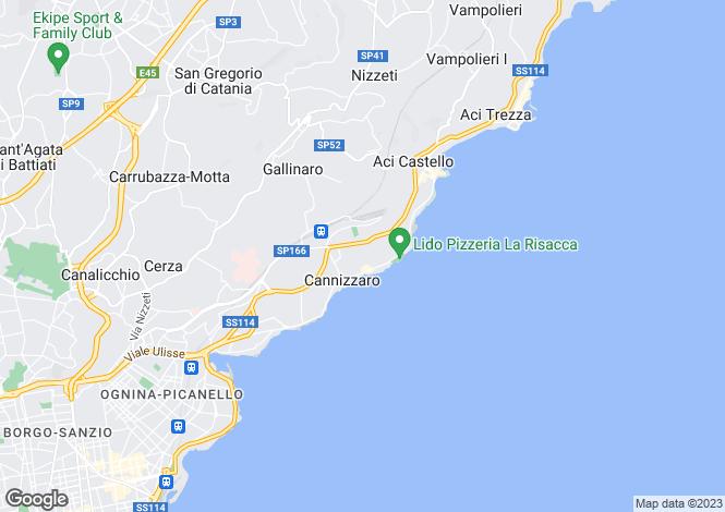 Map for Aci Castello, Catania, Sicily