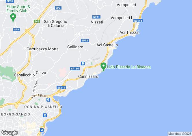 Map for Sicily, Catania, Aci Castello