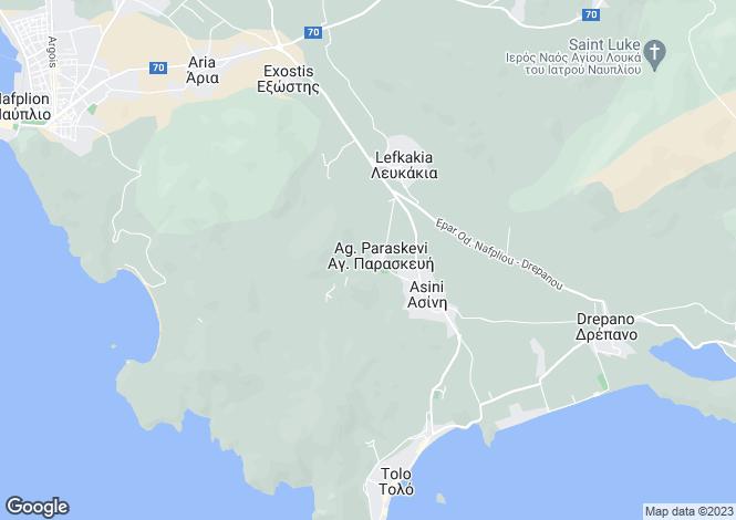 Map for Nafplio, Argolis, Peloponnese