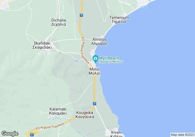 Map for Myloi, Argolis, Peloponnese
