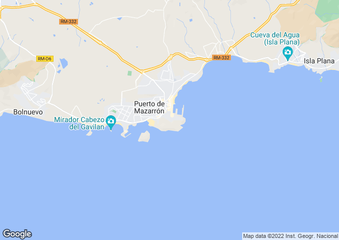 Map for Puerto De Mazarron, Murcia, Spain