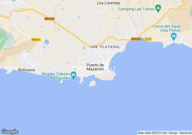 Map for Murcia, Puerto de Mazarrón