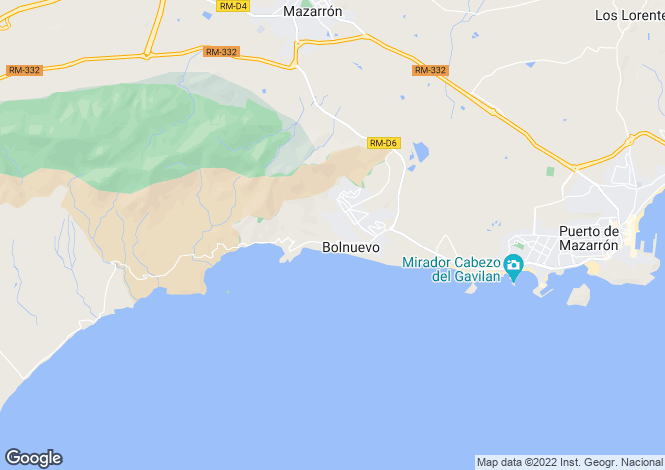 Map for Mazarron, Murcia, Spain