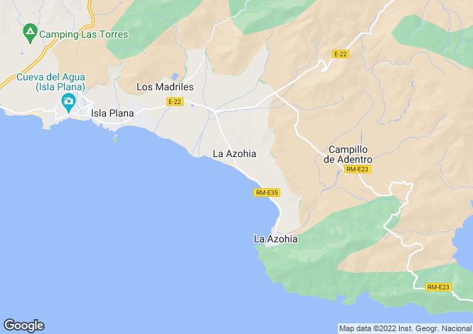 Map for La Azohia, Murcia, Spain