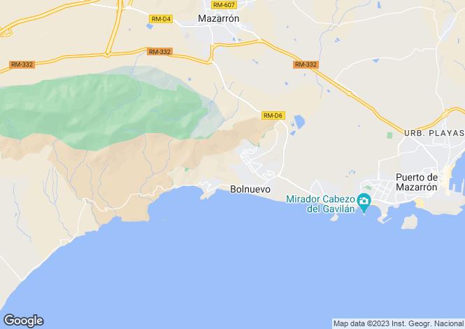 Map for Bolnuevo, Murcia