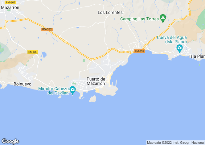 Map for Puerto de Mazarrón, Murcia
