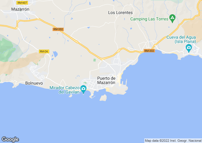 Map for Puerto de Mazarrón, Murcia
