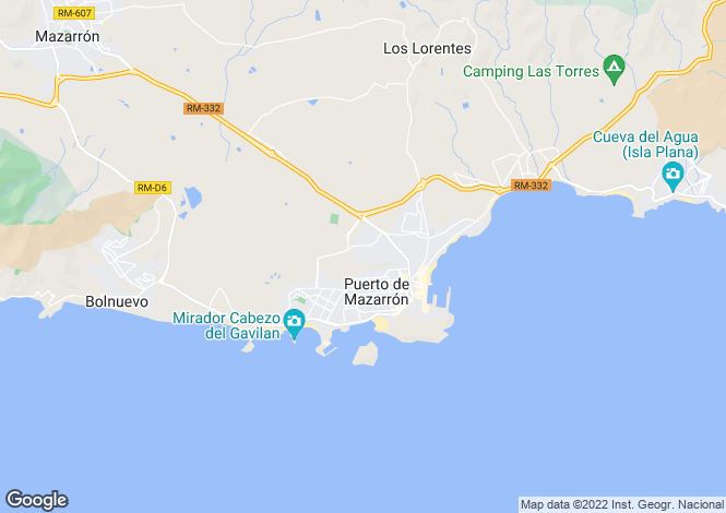 Map for Murcia, Puerto de Mazarrón