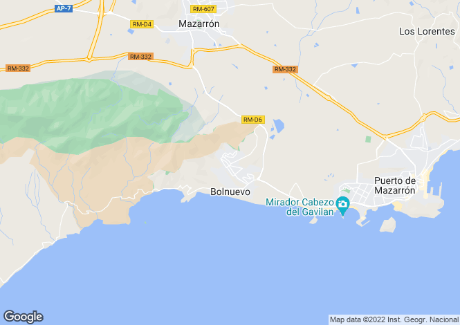 Map for Murcia, Bolnuevo