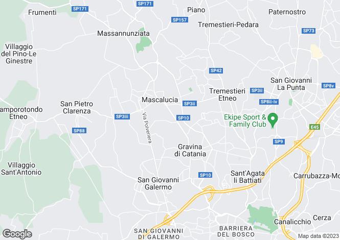 Map for Mascalucia, Catania, Sicily