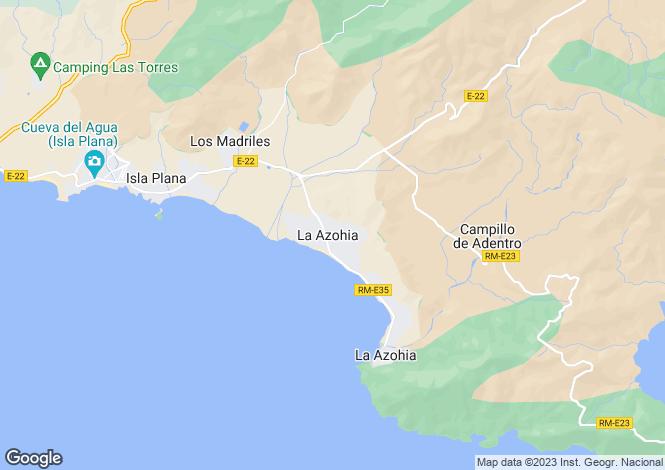 Map for Murcia, La Azohía