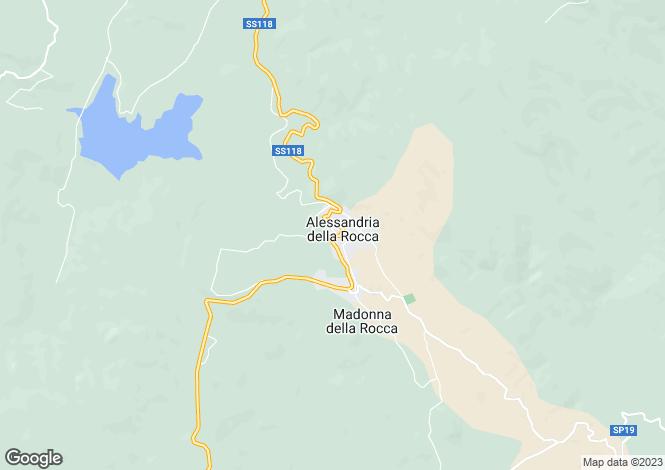 Map for Sicily, Agrigento, Alessandria della Rocca