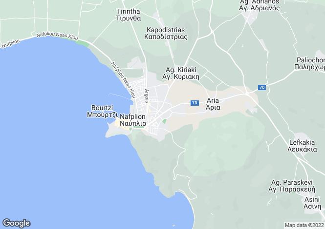 Map for Nafplio, Argolis, Peloponnese
