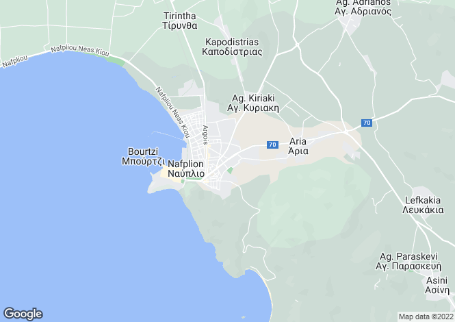 Map for Peloponnese, Argolis, Nafplio