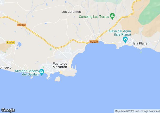 Map for Puerto de Mazarron,Murcia
