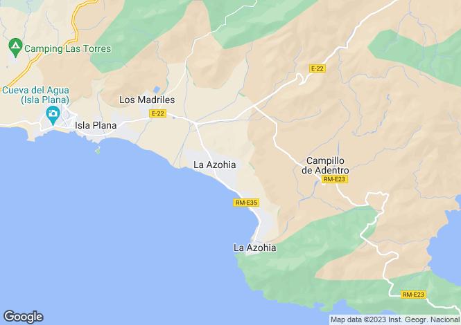Map for Murcia, Cartagena
