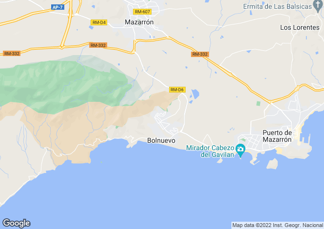 Map for Bolnuevo, Murcia, Spain